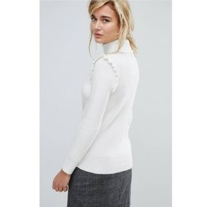 ASOS Sweaters - ASOS // ruffled sweater, medium